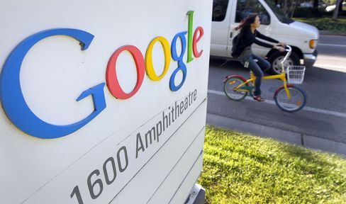 Google Surges to Record High After As Ad Growth Spurt Seen