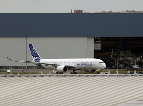Airbus A350 Rolls Out of Paint Shop to Prepare for Test Flights
