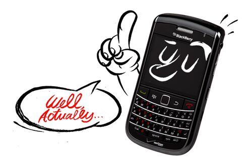 All Future BlackBerry Jokes Will Face Fact-Checking