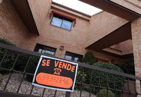 Spanish home prices fell about 40 percent from peak to trough following the property industry's implosion in 2007.