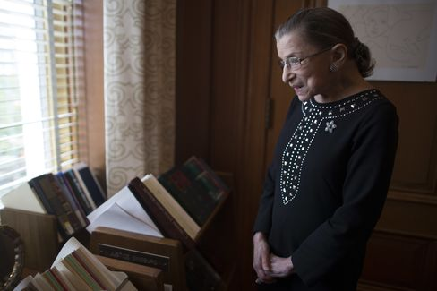 Ginsburg Says U.S. High Court Struck Right Gay-Marriage Balance