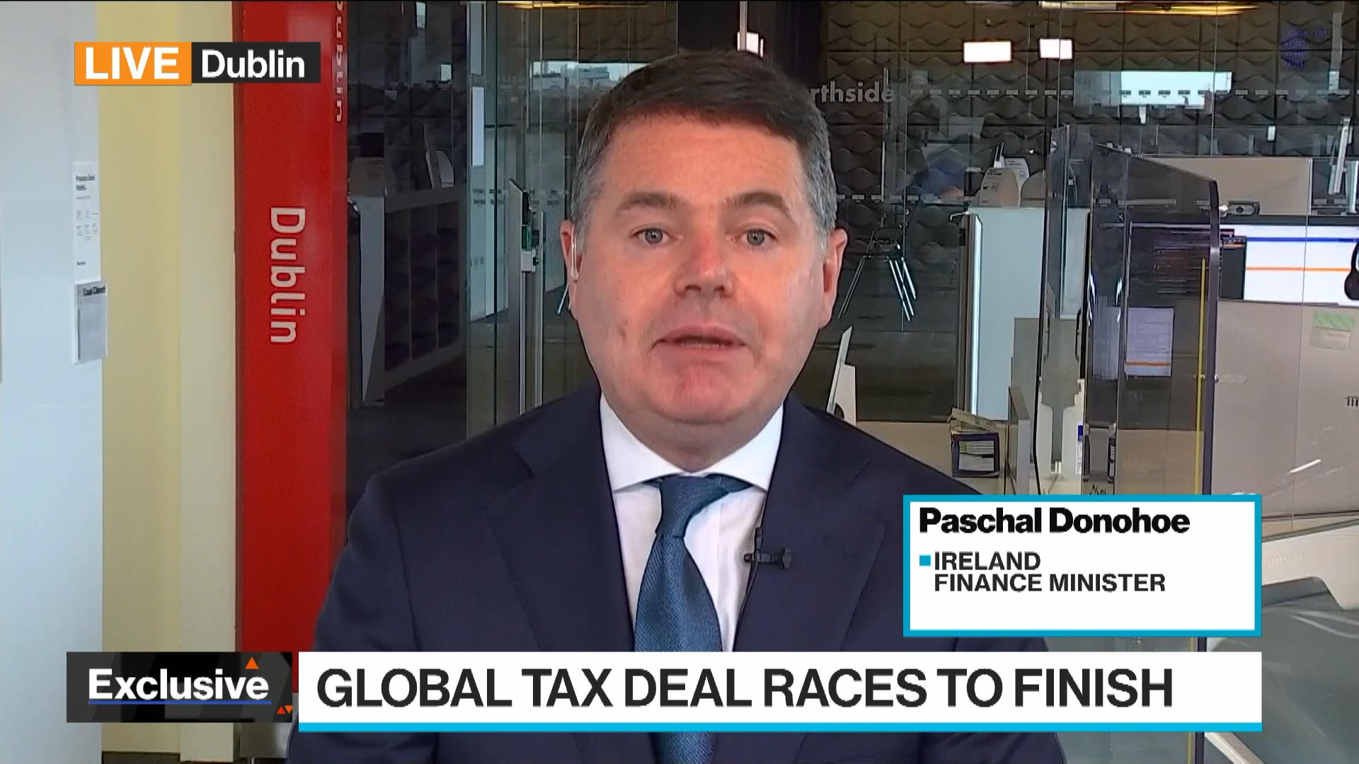 Ireland Wanted 'Certainty' Before Joining Global Tax Deal: Donohoe