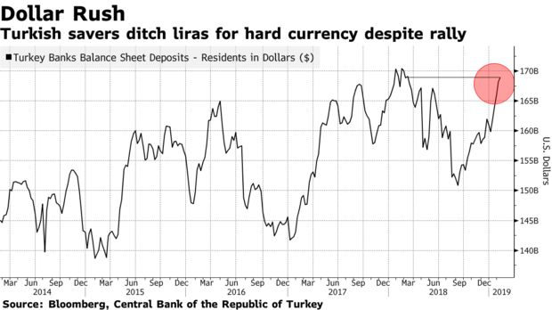 Turkish savers ditch liras for hard currency despite rally