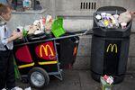 UK - Waste - MacDonalds rubbish bin and trash cart