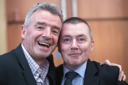Ryanair CEO Michael O'Leary and IAG CEO Willie Walsh