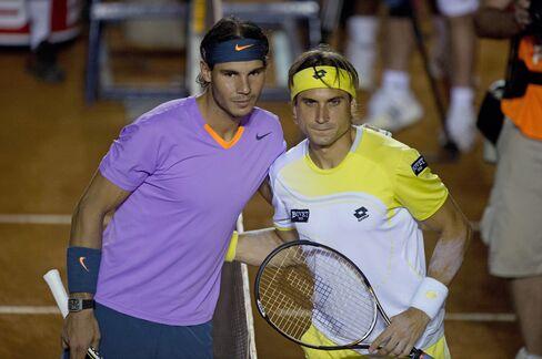 Tennis Players Rafael Nadal and David Ferrer