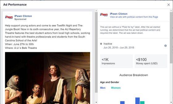 Facebook's Political RuleBlocks Ads for Bush's Beans, Singers Named Clinton
