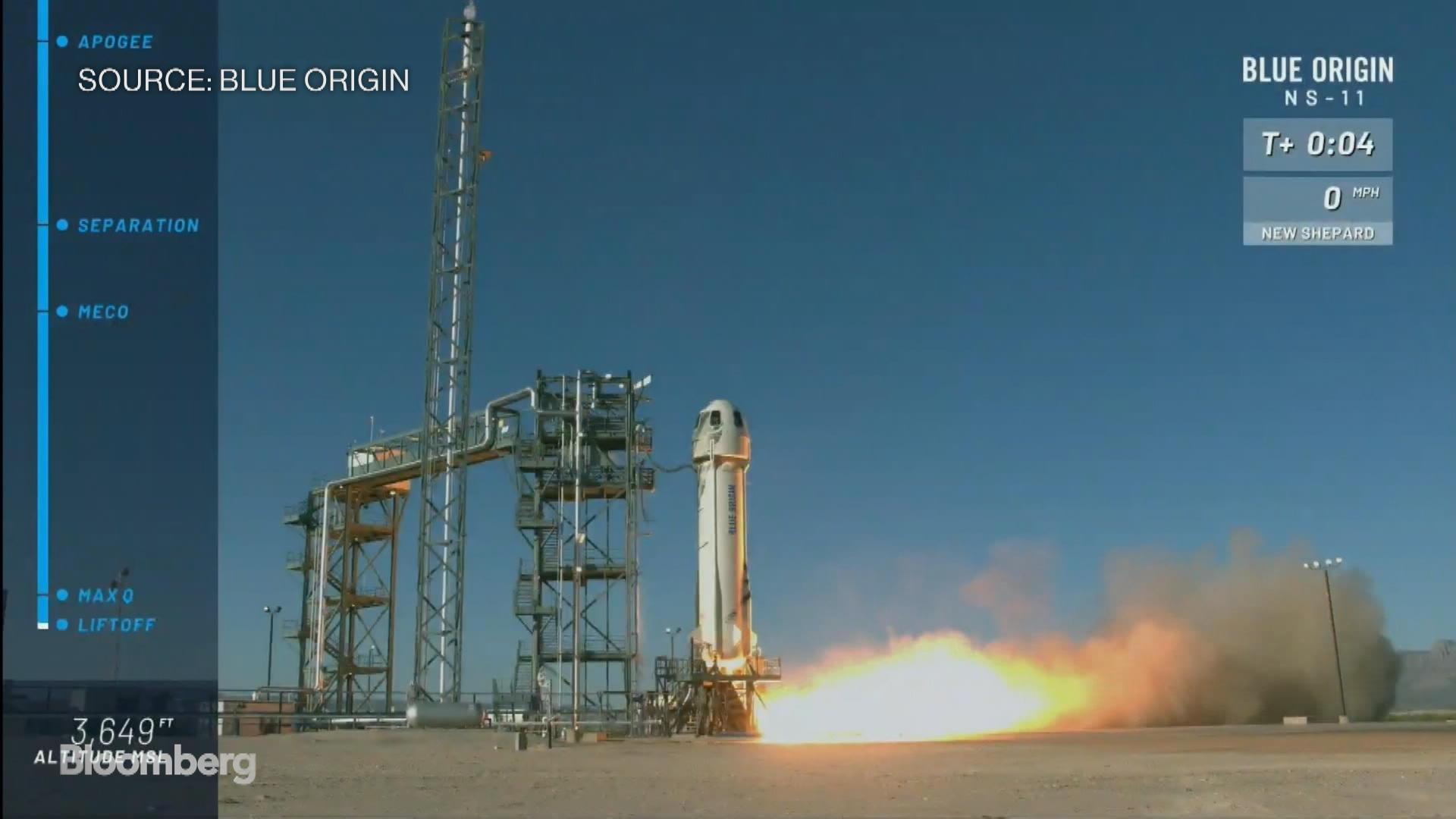 Bezos' Blue Origin Launches New Shepard Rocket