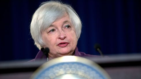Janet Yellen, chair of the U.S. Federal Reserve, during a news conference following a Federal Open Market Committee (FOMC) meeting in Washington, D.C., on June 17, 2015.