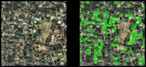 Software detects houses in Sri Lanka and tracks the rate of housing growth.