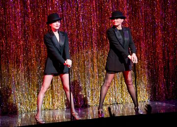 Bebe Neuwirth and Ann Reinking perform at the 7,486th performance of 'Chicago', the second longest running Broadway show of all time at Ambassador Theater on Nov. 23, 2014 in New York City.