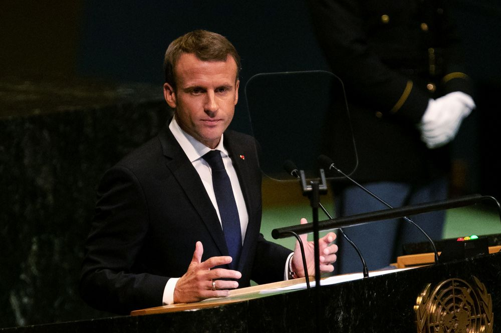 Macron Says No Trade Deals Without Climate Treaty Compliance Bloomberg