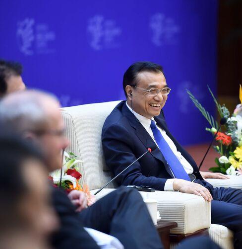 Li Keqiang at a summit for big data and e-commerce.