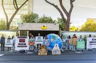 Climate Change Activists Block Entrance Of Energy Company Eni