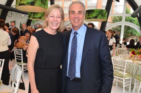 Bank of America's Janet Lamkin, California state president, and Jeff Barker, New York state president. Photographer: Amanda Gordon/Bloomberg