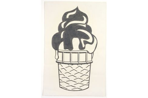 Ice Cream Cone, 1963, by Roy Lichtenstein