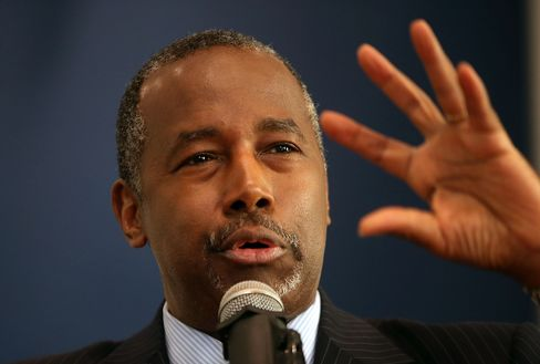Republican Presidential Candidate Ben Carson Speaks At Sunday Church Service In Iowa