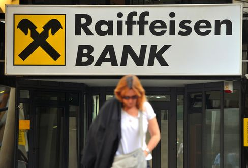 A Raiffeisen Bank International Branch Sits in Belgrade