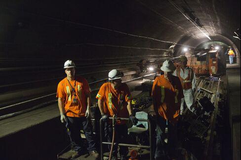 Amtrak Crew in the Hudson Rail Tunnel