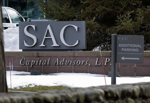 SAC Capital Advisors LP signage stands outside the company's HQ