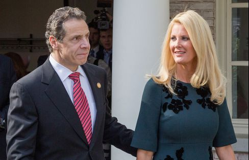 New York State Governor Andrew Cuomo And Sandra Lee