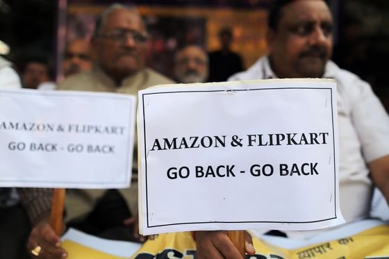 Jeff Bezos's India Visit Marked by Probe and Protests