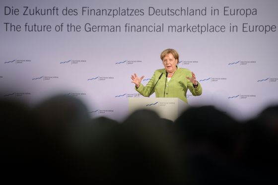 Merkel Endorses Euro Clearing Move to Frankfurt. Sort of.