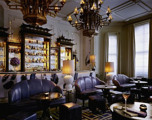 There's an edge to the understated styling and a cheeky cocktail list at Artesian at the Langham