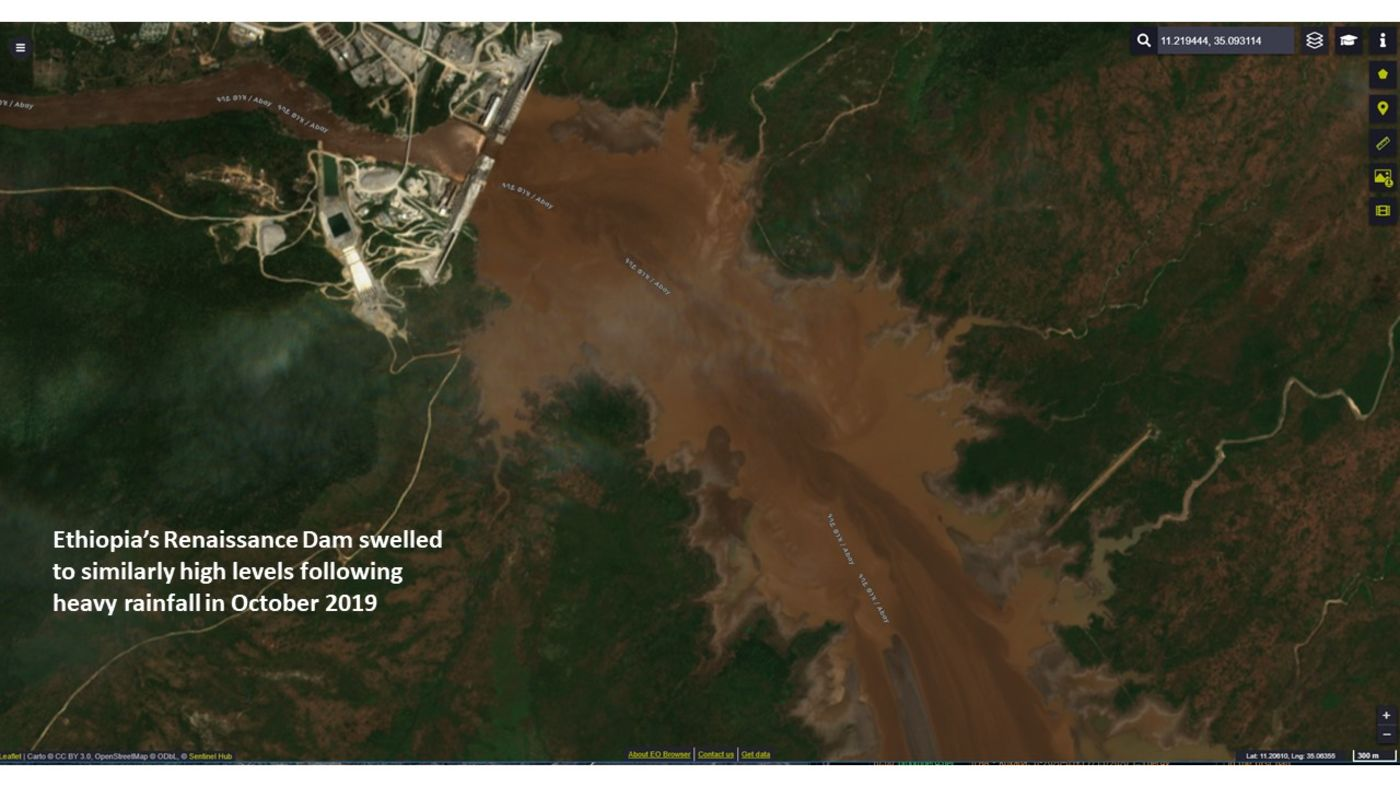 relates to Satellite Images of Dam Raise Tensions in Egypt and Sudan