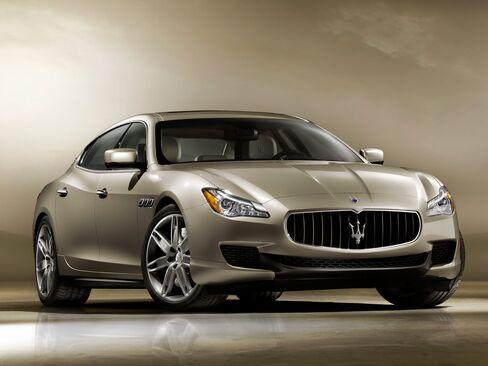 A Maserati Quattroporte.