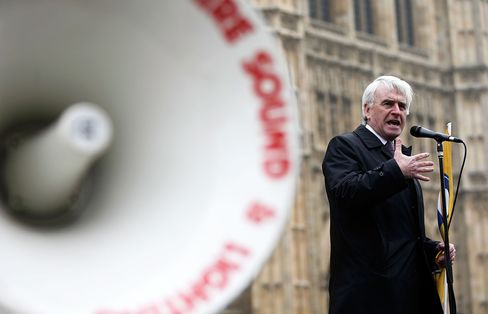 Newly appointed shadow chancellor John McDonnell. Photographer: Matthew Lloyd/Getty Images