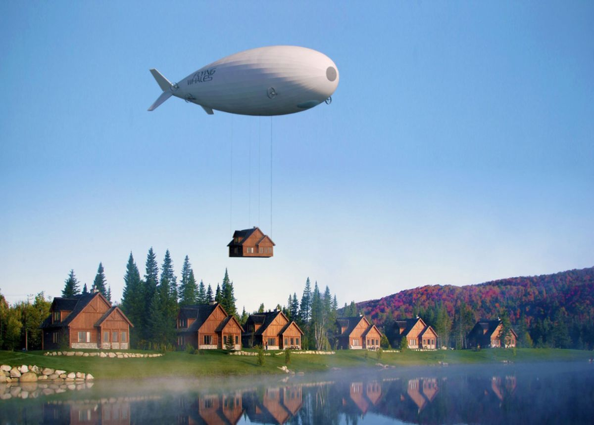 Flying Whale Blimp That Never Lands Joins Global Airship Race
