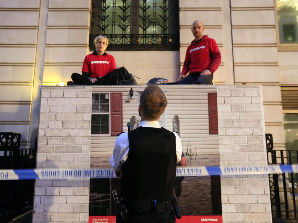 BP Employees Working From Home as Greenpeace Blockades London HQ