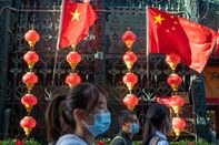 Shoppers in Beijing During Golden Week Holiday