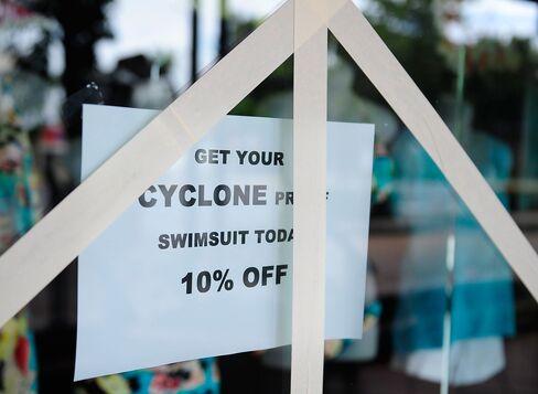 A Store Window is Reinforced in Port Douglas
