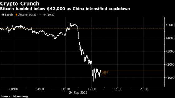 China Widens Ban on Crypto Transactions; Bitcoin Tumbles