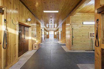 The stables.