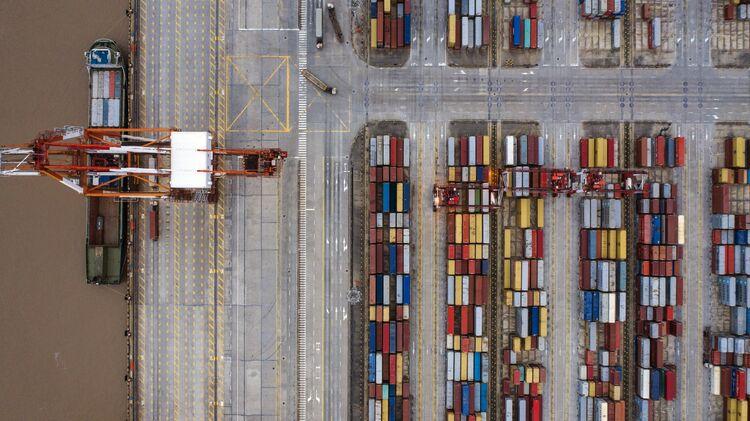 Shanghai's Container Port as U.S. Hikes Tariffs Amid Trade Talks