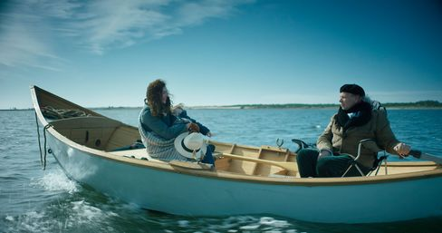An hour-long boat ride takes Mallmann to his home on an island.