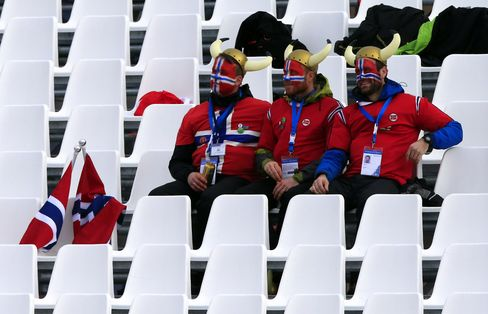 Norwegian Supporters at Sochi