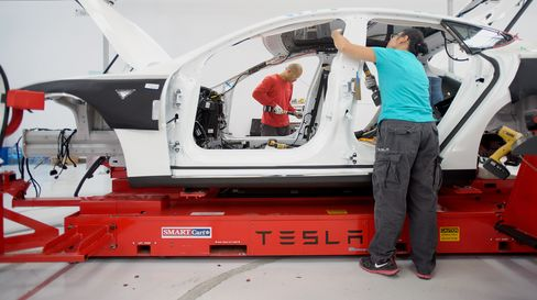 Tesla assembly plant in California