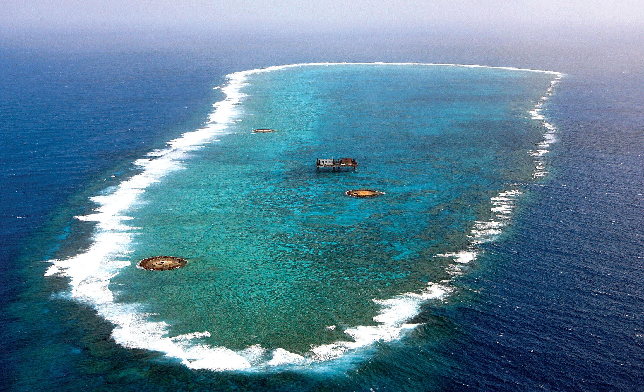 Okinotorishima is an island in Japan's economic zone.