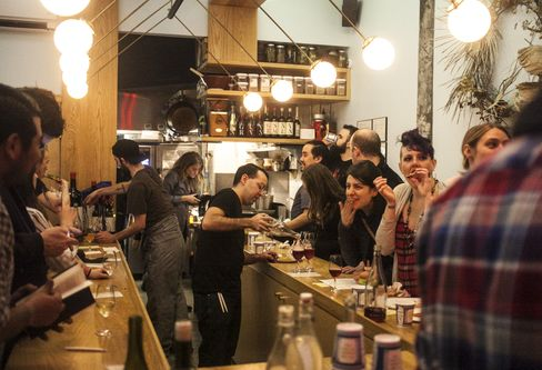 Semilla turned their chef counter into a standing-only pizza party on Sunday.