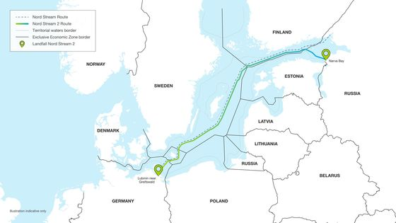 Russia Pushes Ahead on Europe Gas Link Before U.S. Sanctions