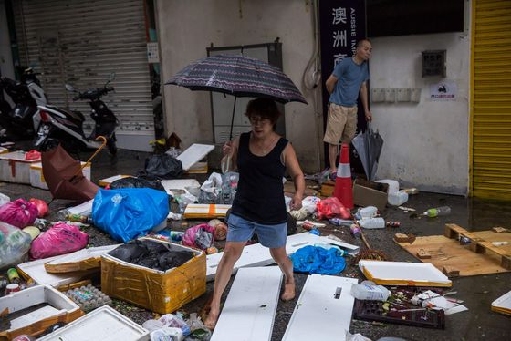 Hong Kong Cleans Up Typhoon Havoc After Mangkhut Shuts City
