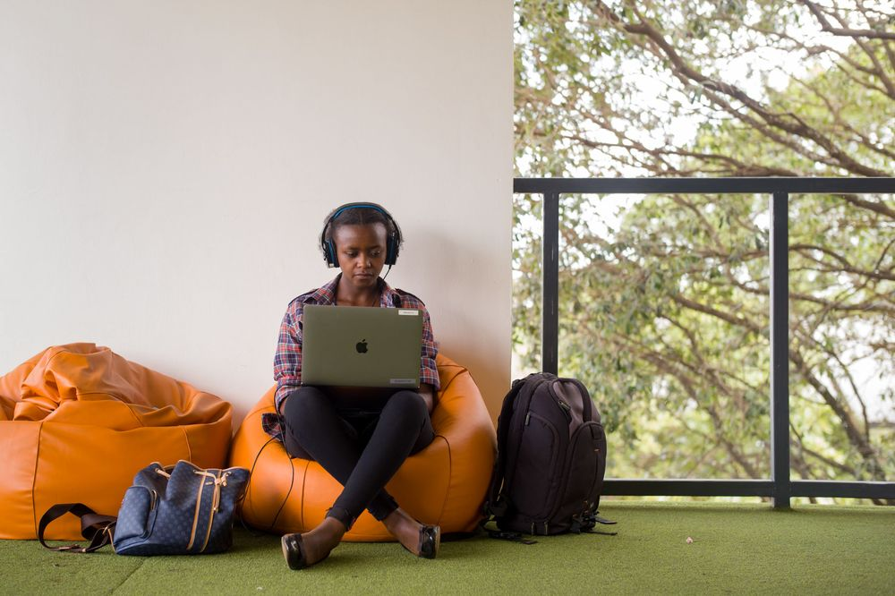An Andela employee working at the Nairobi offices in Kenya.