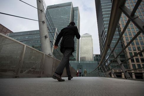 Canary Wharf Business, Financial And Shopping District As Britons Are Worried About The Outlook For The Economy