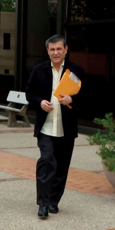 Antonio Peña Arguelles leaves court in San Antonio in 2014 after serving time for conspiracy to launder monetary instruments.