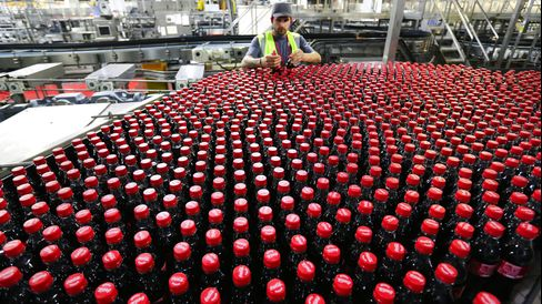 U.K.: Bottling Operations Inside A Coca-Cola Co. Production Facility