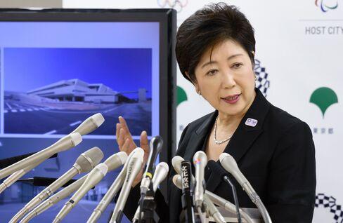 Yuriko Koike at a press conference on Aug. 31.